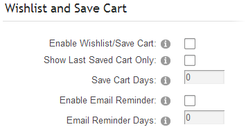 1a555ff6fac5f Enable Wish List/Saved Cart – Check this box if you would like to enable  the built in wish list/save cart feature.